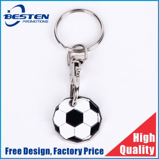 Custom Metal Silver Promotion Gift Trolley Coin for Token Coin Keychain