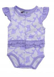 Lace Ruffled Sleeve Baby Garment Front Packets Baby Bodysuit