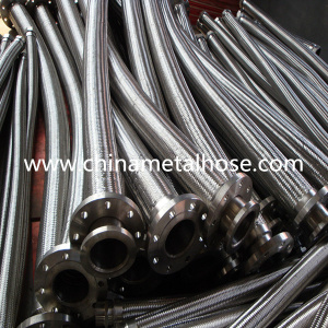 High Quality Braided Flexible Corrugated Metal Hose with Flanges pictures & photos