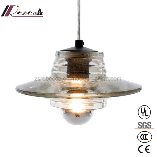 Modern Corrugated Glass Pendant Light for Dining Room