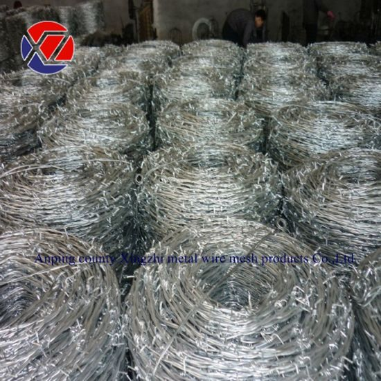 High Steel Galvanized/PVC Coated Barbed Wire