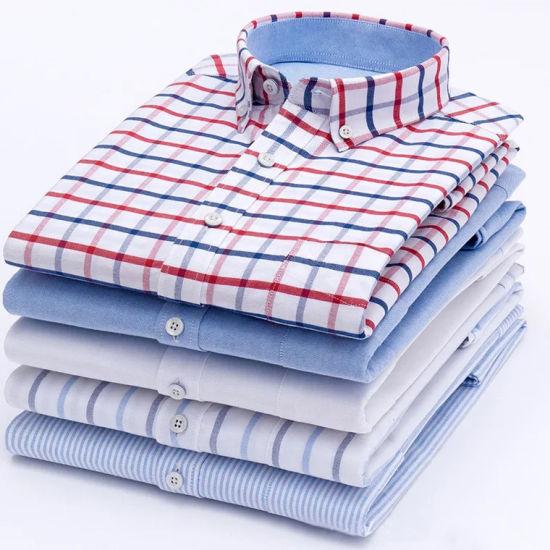 Wholesale Latest Design 100% Cotton Long Sleeve Formal Dress Shirt Custom Slim Fit Casual Shirt for Men