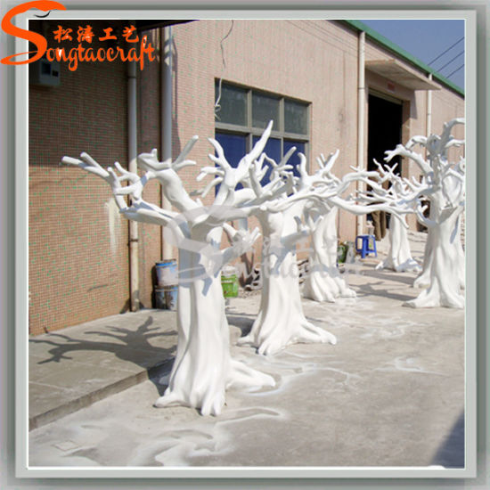 Artificial Natural Wood White Dry Tree