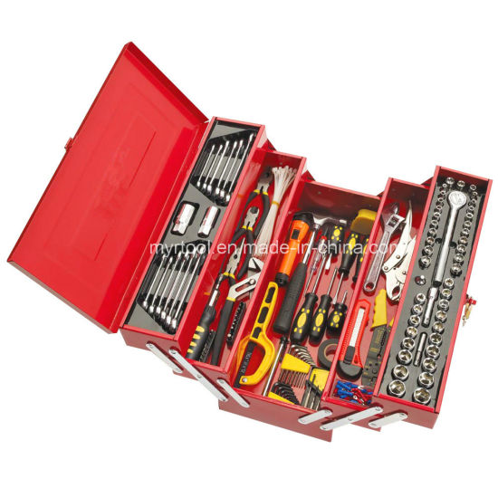Hot Sale-199PCS Professional Hand Tool Kit in Metal Case pictures & photos