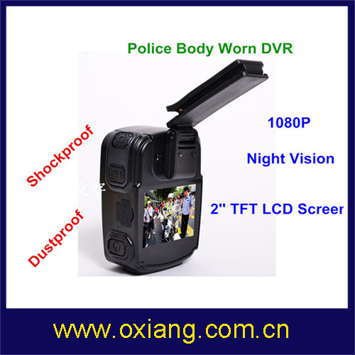 1080P Police DVR 120 Degree Wide Angle Police Body Worn DVR with Night Vision pictures & photos