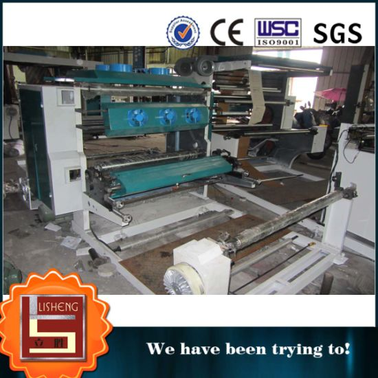 2 Color Big Rewinder Flexo Printing Machine pictures & photos