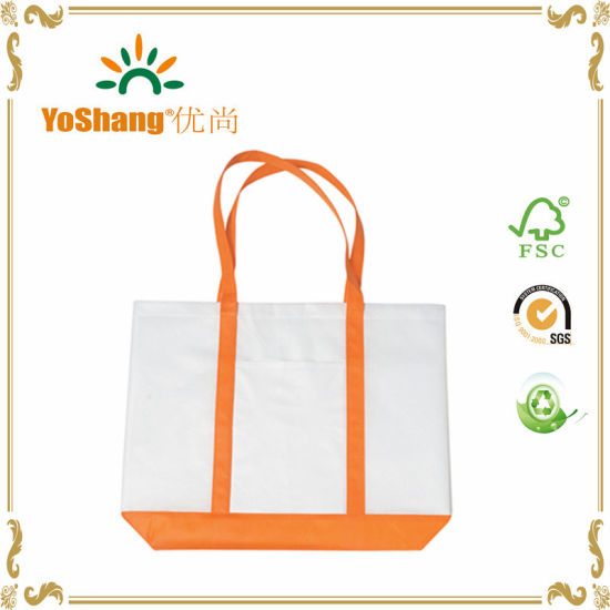Promotional Non-Woven Tote Bags with Trim Colors pictures & photos