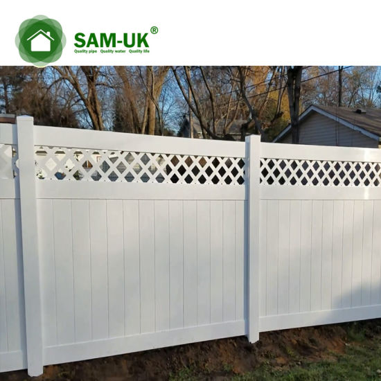 6' X 8' Heavy Duty Vinyl Private Fence with Ornamental Top