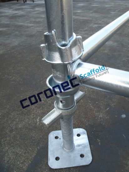 ANSI Certified Cuplock Adjustable Hollow Screw Jack Scaffold pictures & photos