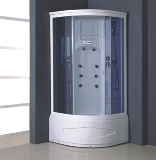 Deep Tray Small Round Glass Cabin Steam Shower Cubicle Price pictures & photos