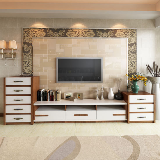 Living Room Furniture Melamined TV Stand Cabinet pictures & photos