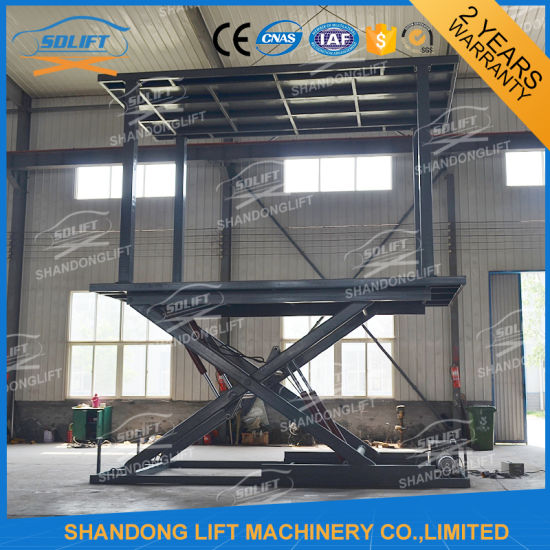 Hydraulic Auto Lift Scissor Car Lift / Home Factory Stationary Garage Lift Price pictures & photos