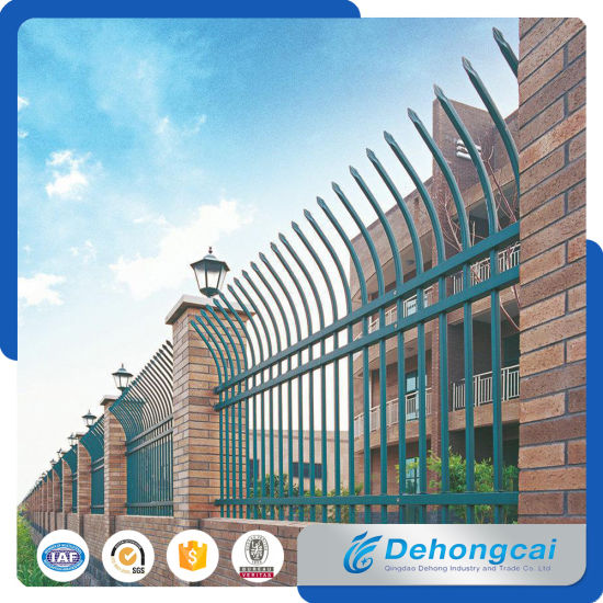 High Quality Beautiful Security Wrought Iron Fence with Powder Coated pictures & photos