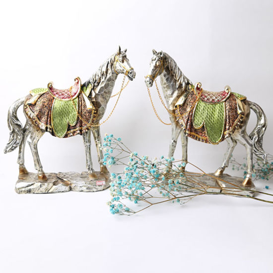 Hot Selling Statue Polyresin Craft Resin Horse Figurine Direct for Home Decor