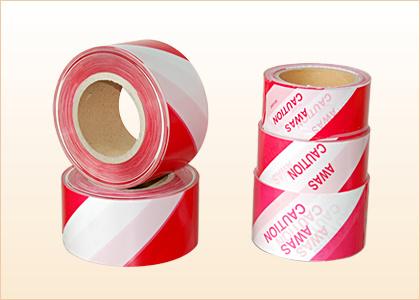 Red and White PE Warning Tape Marker Barricade Tape Hazard Tape