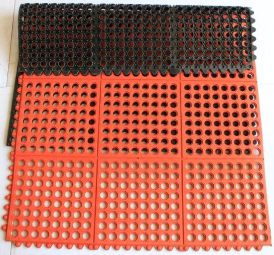 China Interlocking Rubber Hole Mat, Kitchen Rubber Floor Mat ...