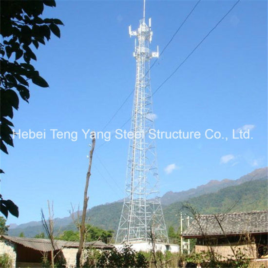 Golden Supplier Galvanized 4 Legged Communication Angle Steel Tower pictures & photos