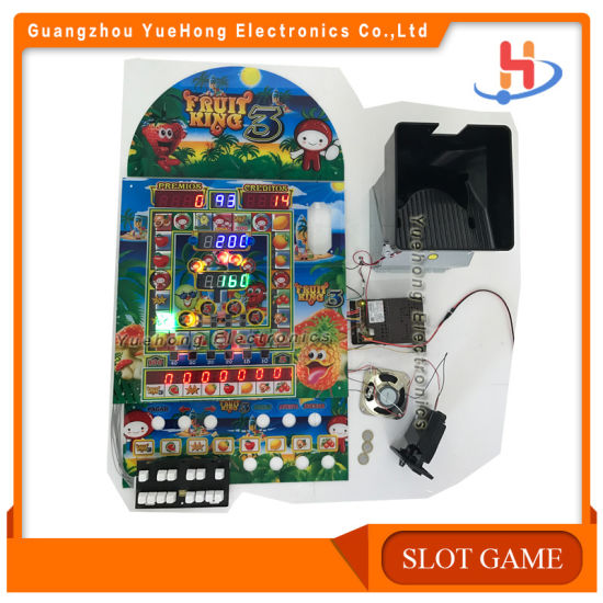 Coin Operated Fruit King Slot Game Machines