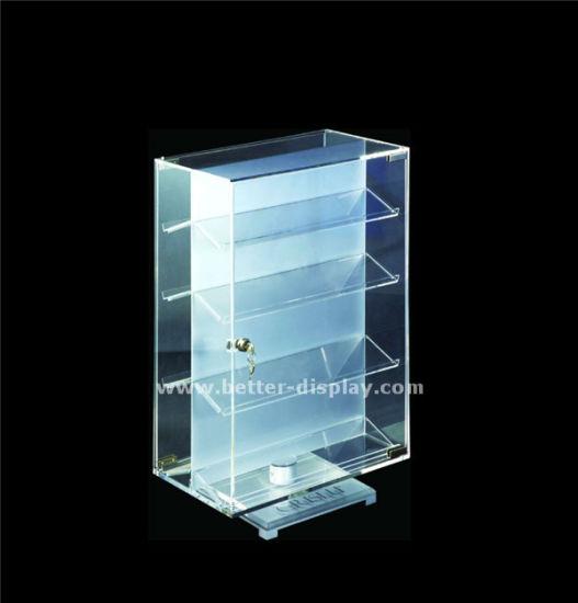 Custom Clear Acrylic Power Bank Display Cabient