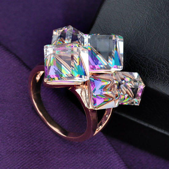Women Accessories White Gold Big Stone Jewelry Ring pictures & photos