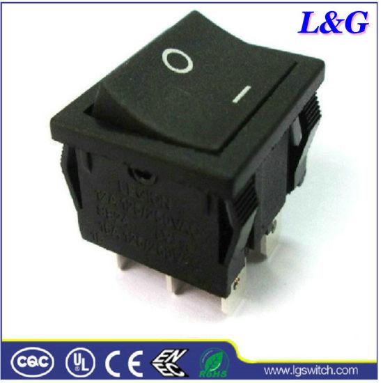 SGS Black 16A Dpst Micro Rocker Paddle Button Switch (SS24)