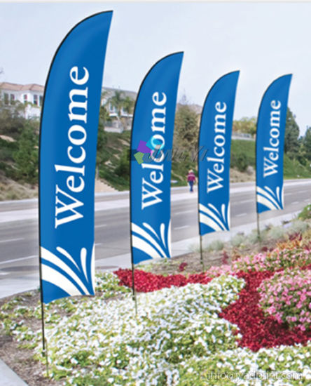 Wholesale Outdoor Advertising Single/Double Sided Beach Flag With Design