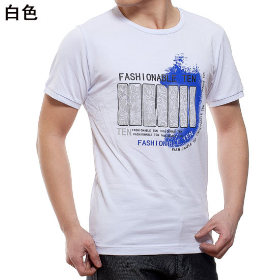 Promotional Customized Silkscreen Printing Cotton T-Shirts with Your Logo pictures & photos
