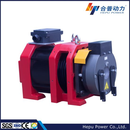 CE, China 4~8 Passengers Gearless Traction Machine, Elevator Traction Motor, India Market; Wtd2-P Series, Disc Brake Type