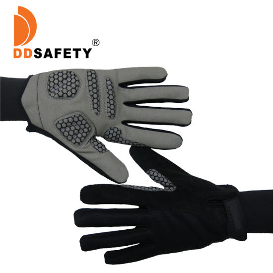Leather Gym Motorcycle Motocross Motorbike Driver Driving Vr Bicycle Cycling Bike Biker Racing Cycling Sports Hand Safety Gloves