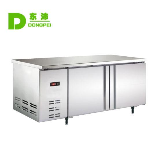 Commecial Kitchen Equipment Double Door Refrigerator Work Table Refrigerator