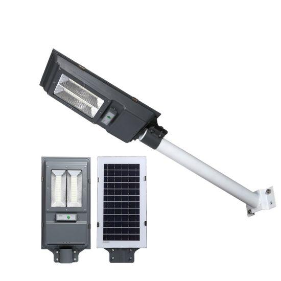 China Manufacturer LED Solar Street Light Steel Post Road Lamp