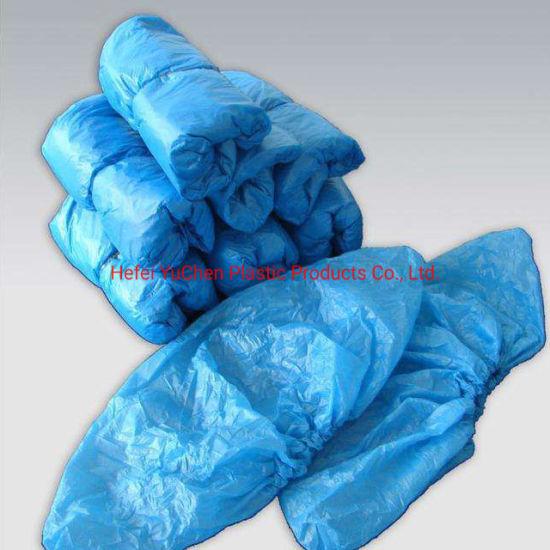 Disposable Elastic PE Plastic Medical Waterproof Shoe Cover