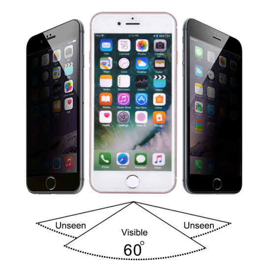 Factory Wholesale 9h Anti-Peeping Tempered Glass 5D for iPhone X pictures & photos