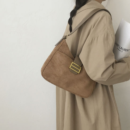 China Factory Custom New Arrival Women Nice PU Leather Handbag Shoulder Hobo Bag