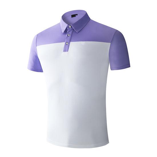 Men Golf Clothing Custom 90% Polyester 10% Spandex Dri Fit Sports Polo Shirt Man Golf Shirt