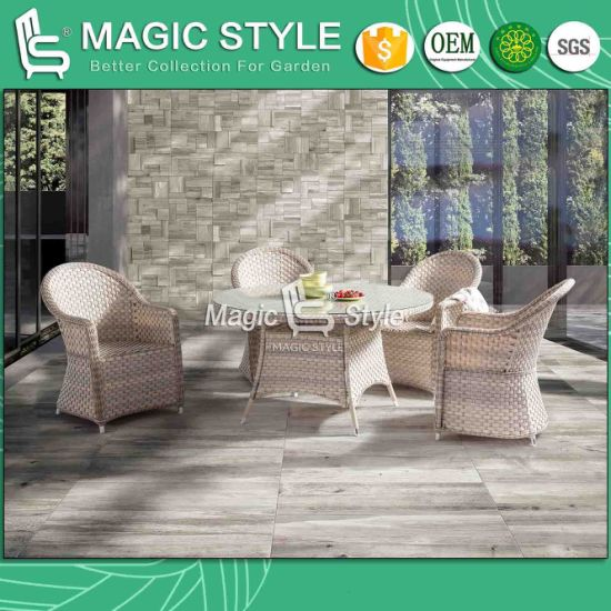 Rattan Chair Garden Furniture P. E Wicker Dining Set Chair Dining Table Wicker Dining Table Round Table Outdoor Dining Chair pictures & photos