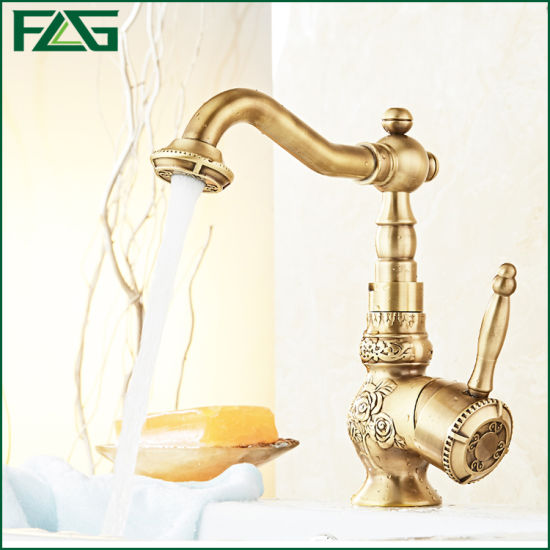 Flg Luxury Golden Best Price Br Bathroom Faucet