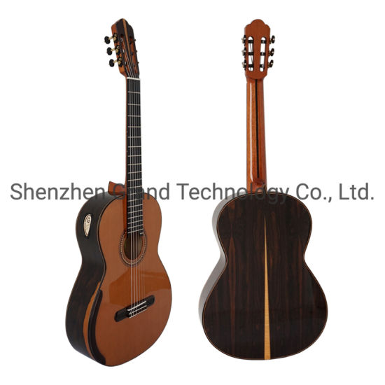 Custom Yulong Guo Double Top Guitar Master Concert Models Ziricote Back and Side Aaaa All Solid Cedar Spruce Classic Guitar String Scale 650mm