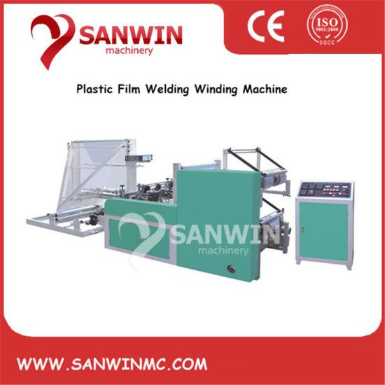 High Speed Plastic Film CPP OPP PP POF HDPE LDPE Edge Melting and Folding Machine