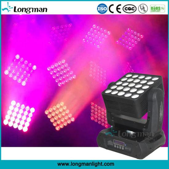 25pcsx15W RGBW LED Stage Wash Lighting Matrix Zoom Moving Head