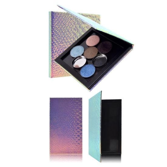 Professional Cosmetic Glitter Empty Magnetic Palette Container Box for Eyeshadow Blush Powder Makeup DIY Customized Case
