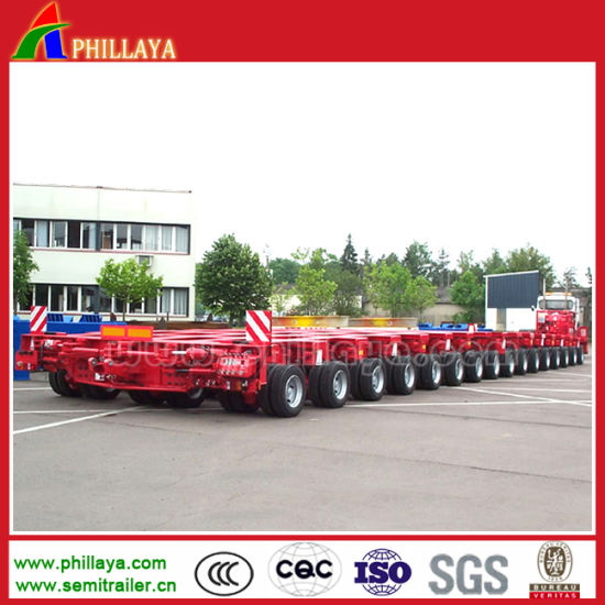 200 Tons Multi Axle Hydraulic Steering Tires Modular Semi Trailer for Sale pictures & photos
