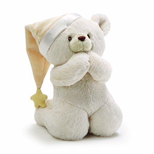 Custom Design Lovely Prayer Teddy Bear Musical Baby Stuffed Animal Toy