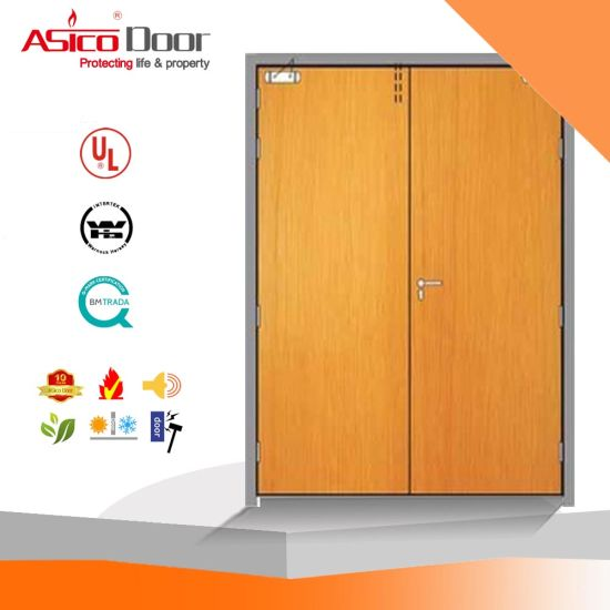 China 3/4 Hour Emergency Exit Fire Rated Wooden Door - China Wooden ...