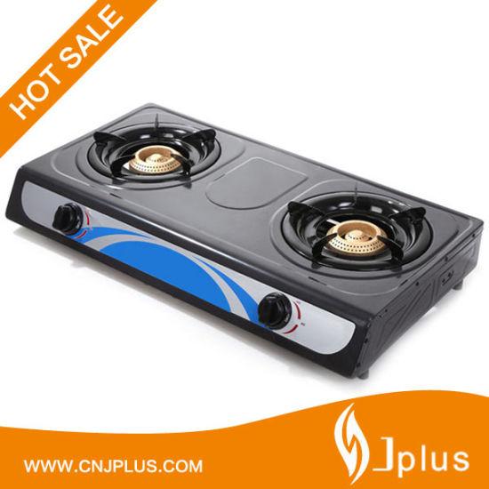 Two Burner Nonstick Panel Gas Cooker (JP-GC206T)