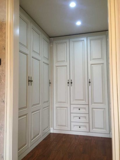 Modern Walk in Closet with Solid Wood Doors From China