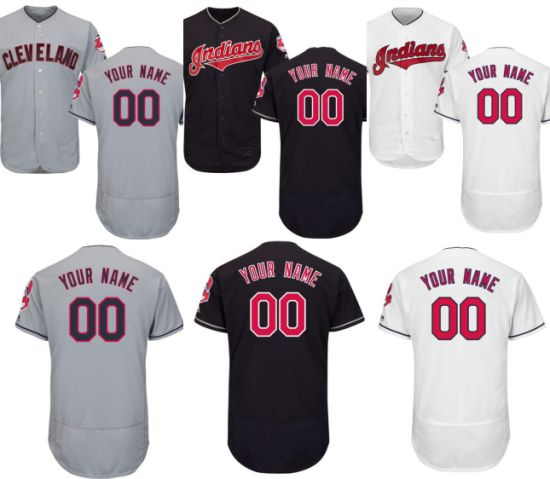 new style 7efcc 2464e China Customize Cleveland Indians Flex Base Baseball Jerseys ...