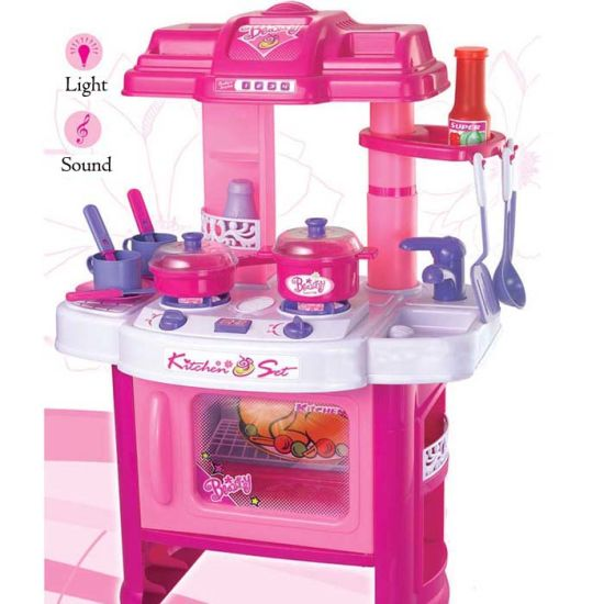 China PP Plastic Children Play Kitchen Toy Set with Light and Sound ...