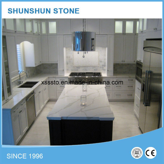 China Artificial White Calacatta Stone Cheap Countertops For Home China Quartz Countertop Quartz Stone