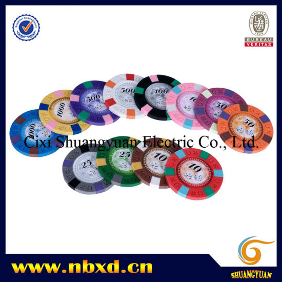 9.5g 3color Pure Clay Horseshoe Engraved Sticker Chip (SY-C10-1) pictures & photos